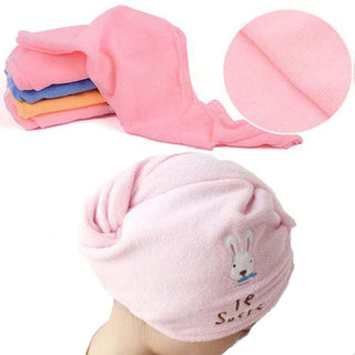 Womens Girls Magic Hair Drying Towel Hat Cap Head Wrap Quick Dry Bathing Tool