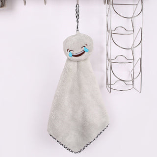 Cute Carton Facial Expression Microfiber Kids Children Hand Dry Towel Lovely Towel For Kitchen Bathroom Use: Deals Blast
