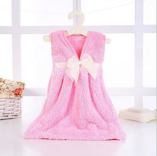 Cute Nursery Hand Towel Dress Shape Super Absorbent Soft Bathroom Hanging Wipe Towel Skirt Kitchen Kids Hand Towels - Deals Blast