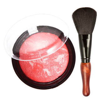 New Cosmetic Face Cheek Blush with Blush Foundation Brush Face Makeup Natural Blusher Powder Palette 3 Colors Options - Deals Blast