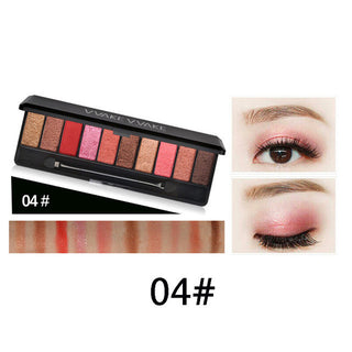 Hot Sale Makeup Brand 10 Color Matte Eyeshadow Palette Set Juice Bar Earth Glitter Eye Shadow Smooth Powder With Brush: Deals Blast