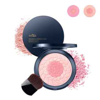 Natural Face Blush Powder Bronzer Face Color Blushers Makeup Powder Cheeks Color Comestics Blush Shading Powder with Brush: Deals Blast