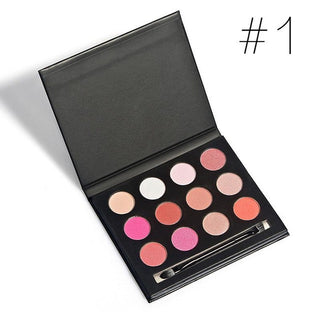 12 Earth Colors Eyeshadow Palette Matte Pigment Eye Shadow Cosmetic Makeup Eyeshadow Palettes For Women Beauty - Deals Blast