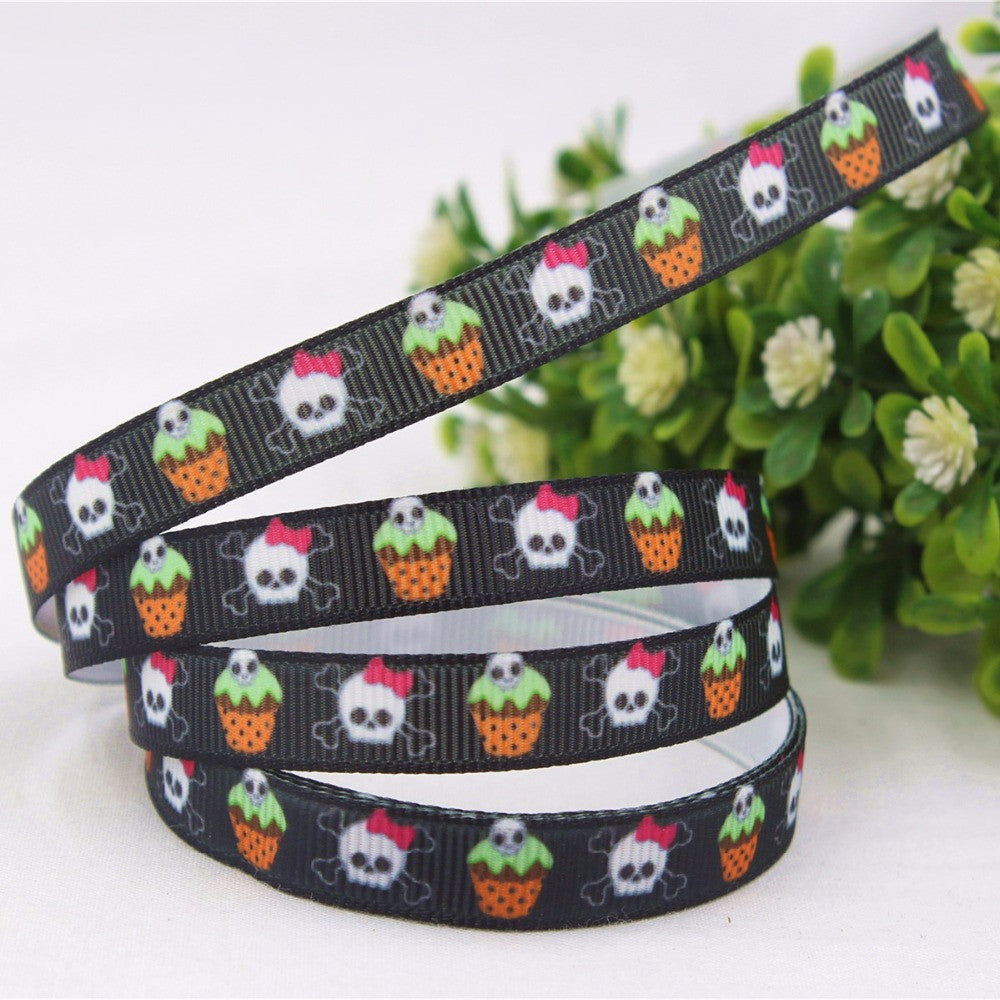 10MM cartoon series printing satin ribbons, DIY handmade hair accessories material wedding gift packaging - Deals Blast