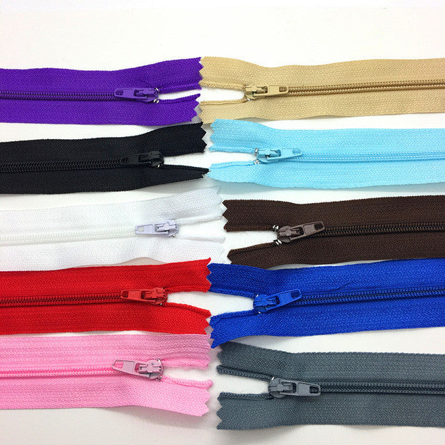 10pcs 12Inch (30cm)Wide Mix colors Nylon Coil Zippers Tailor Sewing Craft Clothing Accessories Crafter's - Deals Blast