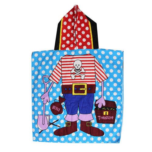 2017 Children Hooded Bath Towel Beach Swimming Towel For Boys Kids Girls Bath Towel Absorbent 6 Pattern - Deals Blast