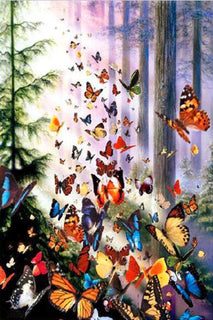 DIY5D Diamond Embroidery Painting Full Mosaic Rhinestone Painting Animals Butterfly 3D Cross Stitch Landscape Room Decor - Deals Blast