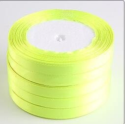 (125 yards/5roll) 10mm Single Face Satin Ribbon Webbing Decaration Gift Christmas Ribbons - Deals Blast