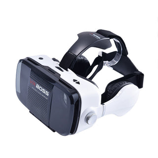 "3D VR BOX Virtual Reality Headset Game Movie Glasses Google Cardboard Head Mount Earphone For 4.0-6.3"" iOS Android Huawei Phone - Deals Blast"