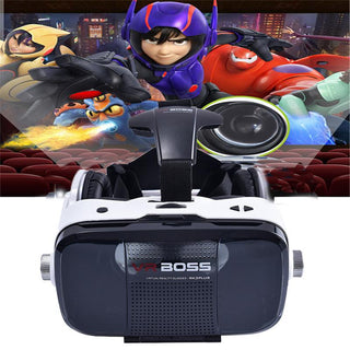 Z5 3D VR BOSS BOX Virtual Reality Google Cardboard Glasses Case 120 Degree Headphone Speaker Button for 4.0-6.3 inch Smartphone