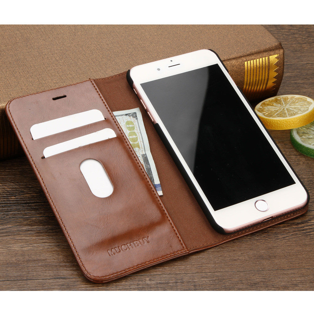 #002 luxury Case for iPhone 7 Genuine Leather Wallet Case for iphone 7 plus luxury Ultra Slim Flip Cover 4.7/5.5: Deals Blast