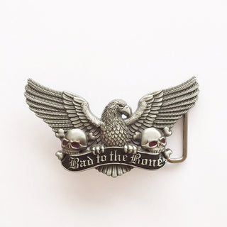 Retail Bad To The Bone Eagle Skulls Belt Buckle Brand New In Stock Free Shipping to Worlwide - Deals Blast