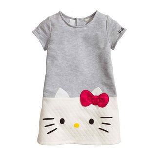 Baby Girls Dresses Cotton Cute Hello Kitty Children Short Sleeve Clothing For Girls Princess Dress Christmas Kids Clothes: Deals Blast