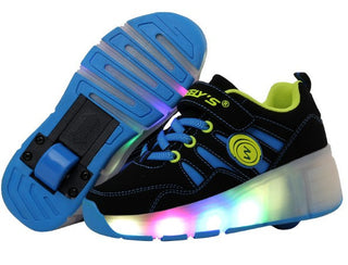 Children Wheel Shoes Boy & Girls Wheel Shoes With LED Lamp Roller Shoe For Chid And Adult  Fashion Casual Kids Sneakers - Deals Blast