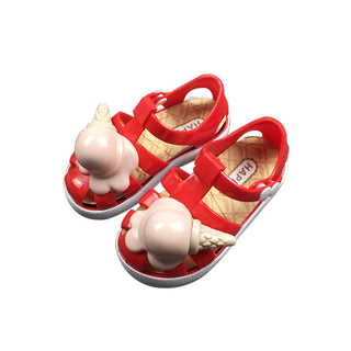 Hot New Kids Mini Jelly Sandals For Baby Girls ice cream Cone Sandals Bottom Children Summer Cute Princess Shoes: Deals Blast