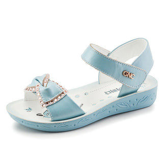 Girls Brand Summer Sandals Children Genuine Leather Princess Shoes Kids Bow Rhinestone Sandals Girls Soft Bottom Shoes: Deals Blast
