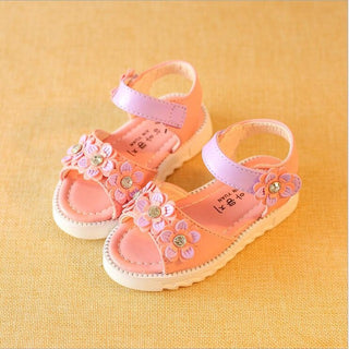 Children #BeachSandals Summer Girls Sandals Children's Lovely flowers thick bottom shoes Low-Heeled Kids - Deals Blast