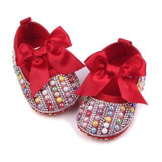 New Bow Princess Crystal Shoes Cotton Baby Soft Bottom #ToddlerShoes 0-1 year old Girl Spring Summer Baby Shoes - Deals Blast