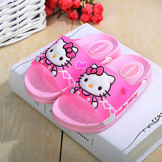 Children slippers Girls and boys home indoor soft bottom slippers Bathroom slippers Summer cartoon beach shoes - Deals Blast