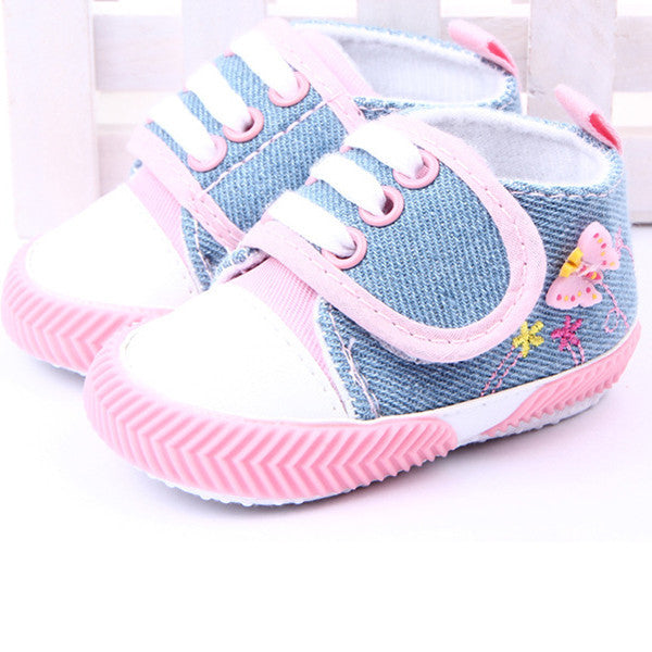 Deals Blast: Hot Kids Baby Shoes Infant Girls Butterfly Printed Shoes Soft Sole Canvas Shoes Booties For Newborns Prewalker 0-1Y Deals Blast