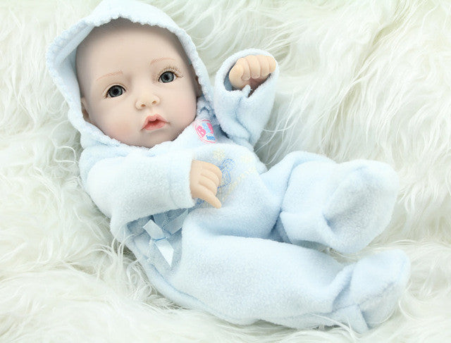 11 Inch 28cm Full Vinyl Bonecas Baby Alive Dolls Fashion Reborn Babies Boy and Girl Twins Baby Gift Toys 1PCS - Deals Blast