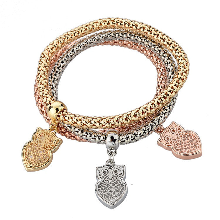 Deals Blast: Best Seller 2016 New Fashion Bracelets Bangles Jewelry Gold Silver Chain Bracelet Round Hollow Charm Bracelets For Women Deals Blast