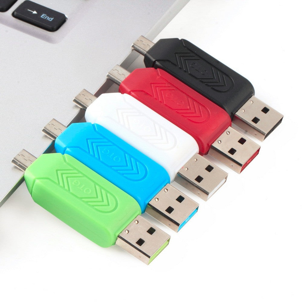 Deals Blast: Best Seller 1pc Universal Card Reader Mobile phone PC card reader Micro USB OTG Card Reader OTG TF / S-D flash memory Wholesale Price Deals Blast