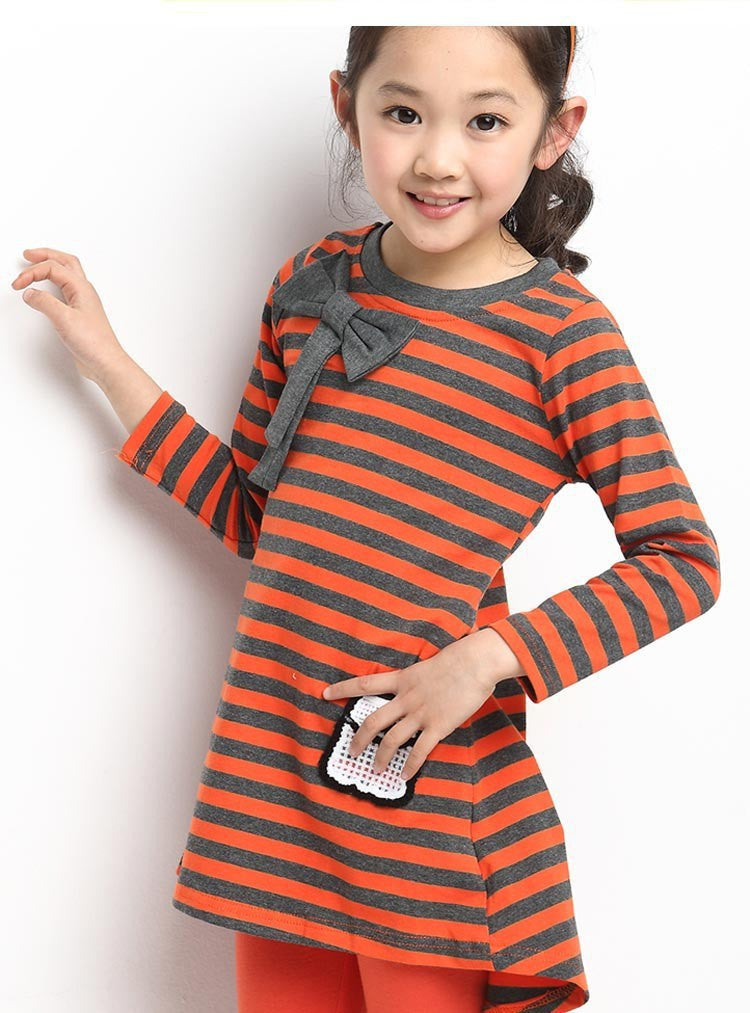 Girls clothing sets Autumn winter kids girls clothes long sleeve stripe T-shirt + leggings suits teenage Children clothing: Deals Blast