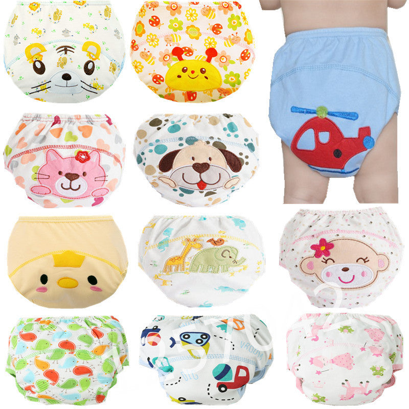 Deals Blast: Best Seller 1Pcs Cute Baby Diapers Reusable Nappies Cloth Diaper Washable Infants Children Baby Cotton Training Pants Nappy Changing Deals Blast