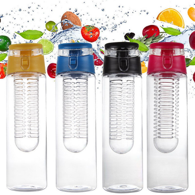 2016 Portable 800ML Fruit Infusing Infuser Water Sports Lemon Juice Bottle Flip Lid for kitchen table Camping travel outdoor - Deals Blast