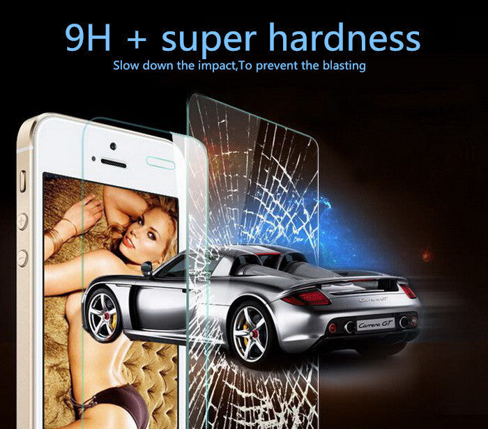 Deals Blast: Best Seller Ultra Thin 0.26 mm 2.5D Premium Tempered Glass Screen Protector For iPhone 5 5S 5c se HD Toughened Protective Film+ Cleaning Kit Deals Blast