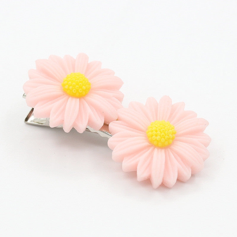 Deals Blast: Vivid Daisy Flower 3 Colors Different Types of Headwear Hair Cips Elastic Band Barrettes for Girls Hair Accessories for Women Deals Blast