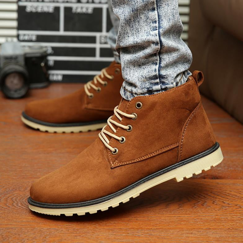 Deals Blast: Best Seller 2016 Leather Men Boots Fashion Warm Cotton Brand ankle boots Shoes men for Spring Autumn Winter shoe botas hombre Deals Blast