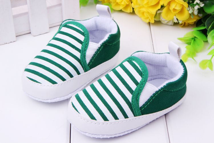 Deals Blast: Best Seller 2016 3-12M Kids Baby Boys Girls Stripes Anti-Slip Sneakers Soft Bottom Shoes First Walkers Deals Blast