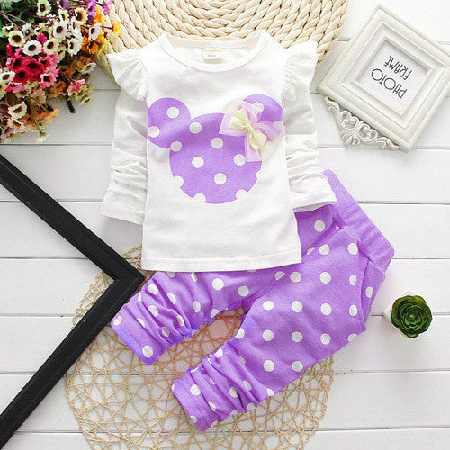 Summer Girls Clothes Kids Tshirt Legging Pants Sport Suit Baby Boy Girls Set Toddler Girl Clothing Suit Minnie Children Clothing Deals Blast