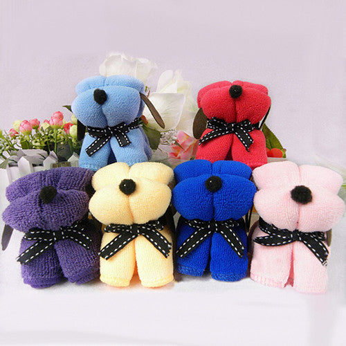 1pc  Dog  Shape Cotton Towel Washcloth Wedding Gifts Present - Deals Blast