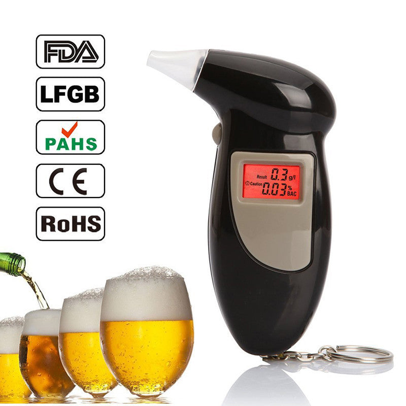 Deals Blast: Best Seller 2016 Digital LCD Backlit Display Breathalyzer Audible Alert Breath Alcohol Tester Box Parking Gadget Analyzer Deals Blast