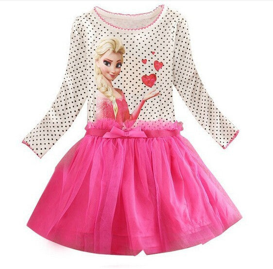 2-7 Years Summer Baby Girl Dress Princess Vestidos Fever Anna Elsa  Dress Children Clothing For Kids Birthday Party Costume - Deals Blast