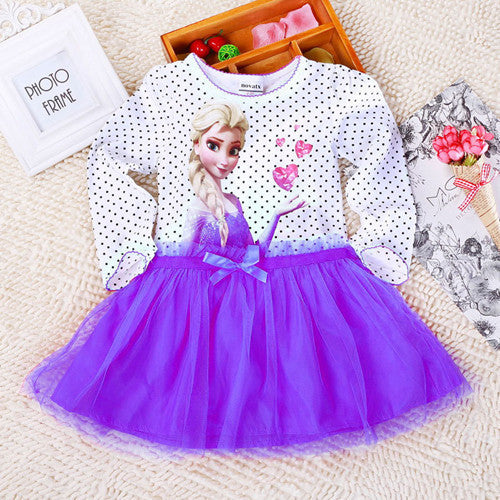 Deals Blast: Best Seller 2016 2-7 Years Summer Baby Girl Dress Princess Vestidos Fever Anna Elsa Dress Children Clothing For Kids Birthday Party Costume Deals Blast