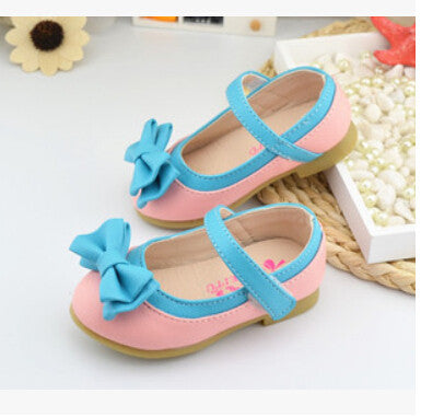 Deals Blast: Children shoes 2016 spring and autumn children princess shoes single shoes soft outsole toddler shoes bow female child flower Deals Blast