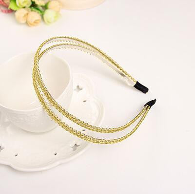 Deals Blast: New Small Round Acylic Circles Connected Hairbands Headband for Girls Headwear  Hair Accessories for Women: Deals Blast