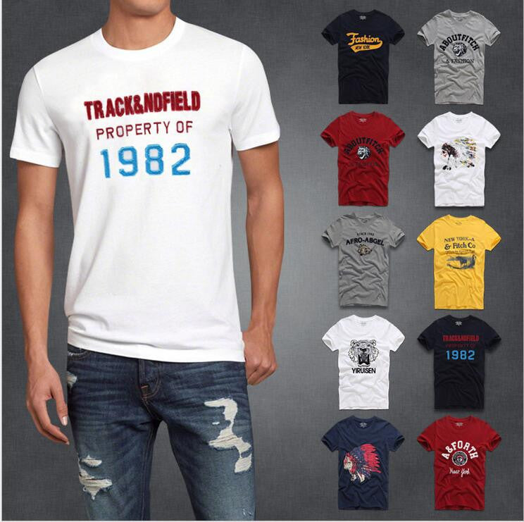 Deal Blast: 2016 Best Seller Famous brand hollistic t shirt men 100 % cotton Free shipping Deals Blast