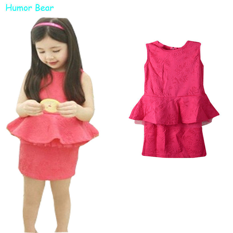 Humor Bear Girls Clothing Sets Fashion Style clothing set kids summer girls clothes sets Deals Blast