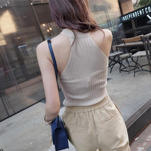 Deals Blast: Best Seller 2016 Crop Top Women 2016 Halter Top Cropped Femal Knitted Blouses Cotton Vest Womens Off Shoulder Sexy Tops Woman Clothing Deals Blast