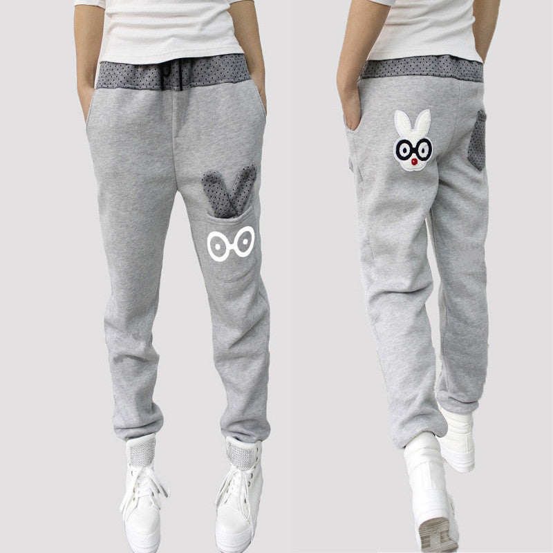 Women Joggers Autumn Capris 2016 Harem Pants Women Sport Pants Casual Sweatpants Loose Pant Cartoon Rabbit Trousers Ladies Pants Deals Blast