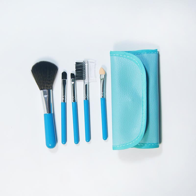 Deals Blast: 5 Pcs kabuki Professional Makeup Brushes Set Beauty Cosmetic Eyeshadow Powder Pinceis Styling Tools Make up Brush Kit With Bag Deals Blast