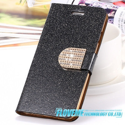 Best Seller iPhone 6 6S Plus 7 Plus Cover Glitter Bling Crystal Diamond Leather Wallet Case For Samsung Galaxy S6 Edge Plus S7 Edge Bags - Deals Blast