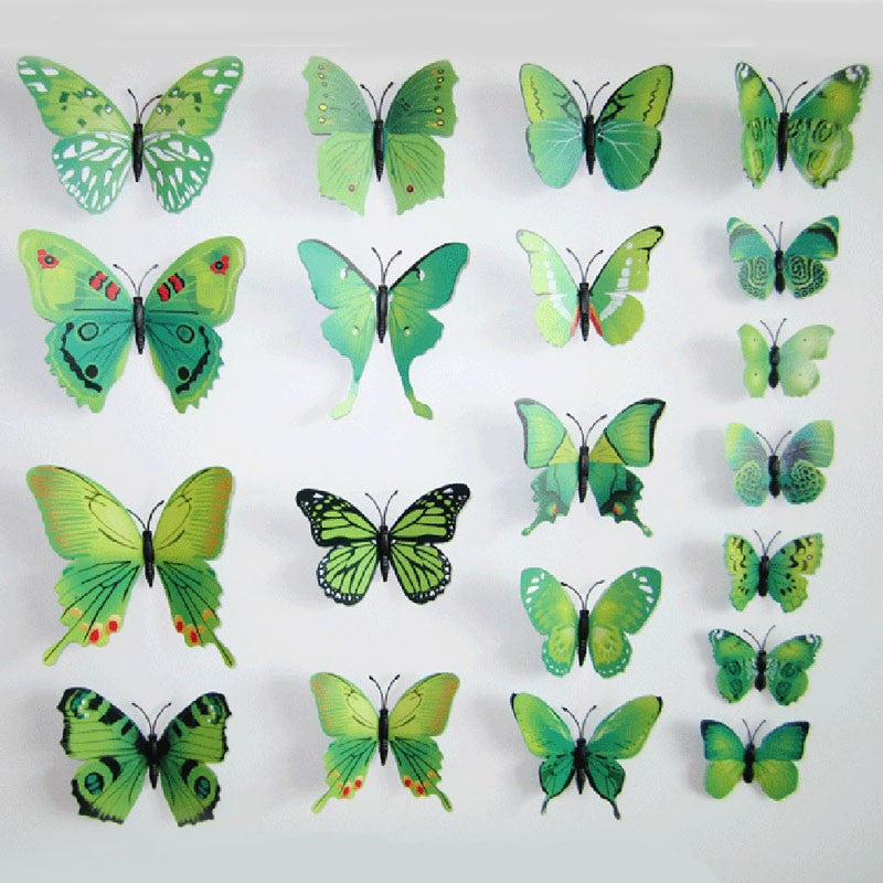 Deals Blast: Best Seller Hot Selling 12PCS 3D PVC Magnet Butterflies DIY Wall Sticker Home Decor Poster for Kids Rooms t Wall Decoration Drop Shipping Deals Blast