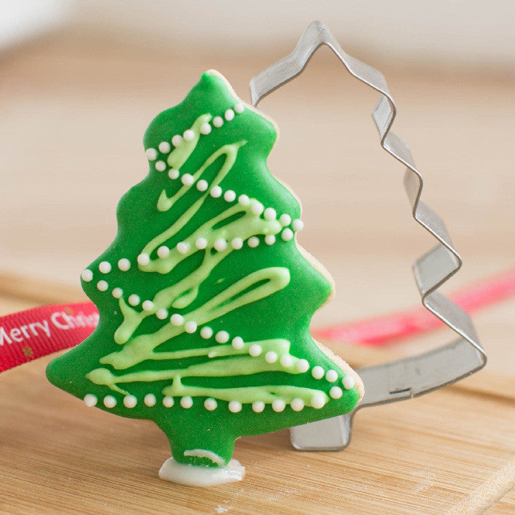 Deal Blat: Best Seller 1PC Mold Christmas Tree Shaped Buscuit Tools Cookie Cake Mold Jelly Pastry Baking Mould Deals Blast
