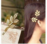 Deals Blast: Hot Fashion Wedding Hair Accessories Olive Branches Leaves Beautiful Bride Hairpin Side Folder hair jewelry For Women Deals Blast
